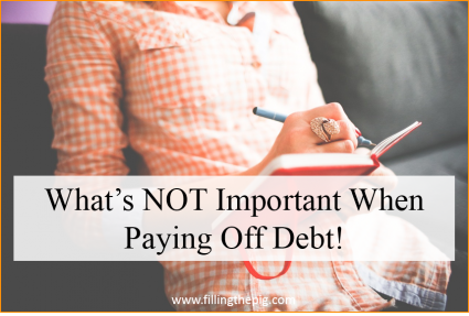 What's Not Important When Paying Off Debt! Putting the Cart Before the Horse