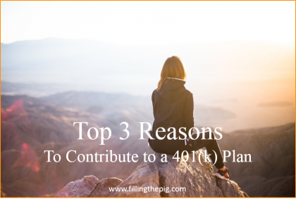 Top 3 Reasons To Contribute to a 401(k) Plan, Simple Retirement Planning