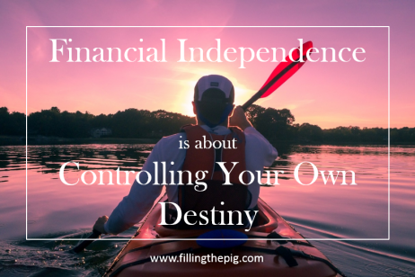 Financial Independence is About Controlling Your Own Destiny, 2008 Financial Crisis