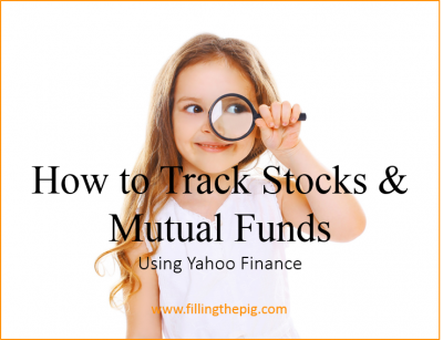 How to Track Stocks and Mutual Funds using Yahoo Finance (Video)